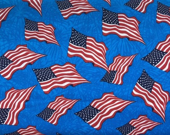 American flag fabric by the yard - patriotic fabric - Fourth of July fabric - 4th of July fabric - Independence Day - #17224