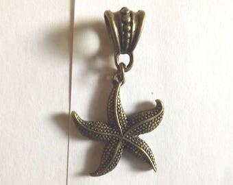 Bronze Starfish pendant