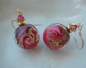 Murano Glass Round Earrings