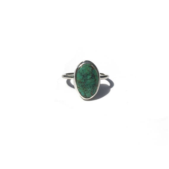 American mined turquoise ring, size 7 1/2