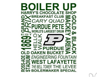 PURDUE University Themed Subway Art - Instant Download File - svg / jpg / Studio3 / PDF
