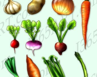 Vegetables clip art cute veggies clipart digital clip art avocado - Vegetable Clip Art Etsy