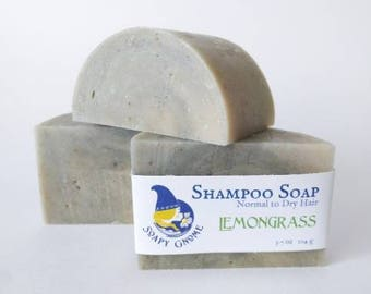 Lemongrass Shampoo Soap with Coconut Milk, Shea and Cocoa Butter