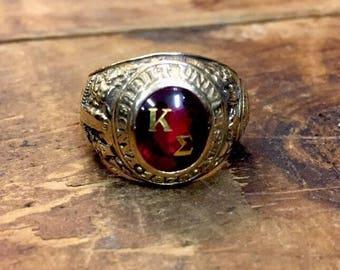 Antique Vanderbilt Kappa Sigma Class Ring 1954 Gold Man's ring