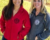 Monogram Fleece Full Zip Jacket
