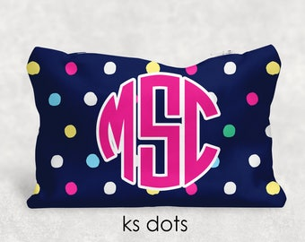 Personalized Pencil Case - Cosmetic Bag - Personalized Gift - Kate Spade Inspired