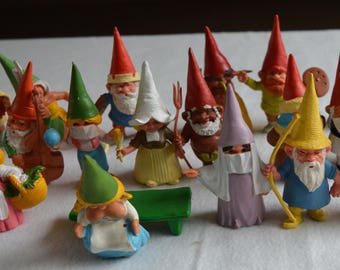 20 (twenty) gnomes after a design by Rien Poortvliet
