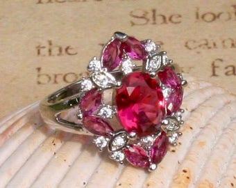 Regal Pink Topaz Silver Ring
