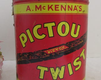 Antique A. McKenna's Pictou Twist Chewing Tobacco Tin