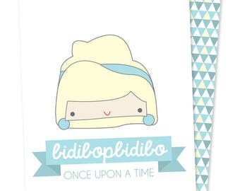 Once Upon stationery - Cinderella - cards printed on recycled paper