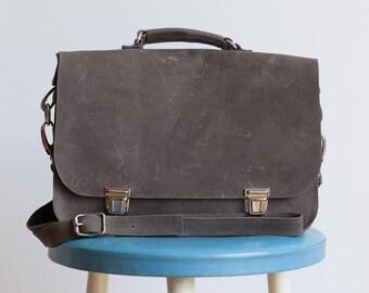 Grey bag with handle