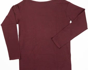 tshirt in wool with long sleeves