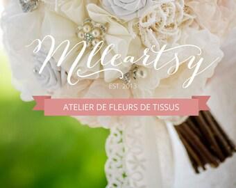 QUÉBEC - Atelier de fabrication de fleurs de tissus - Inscription Avril