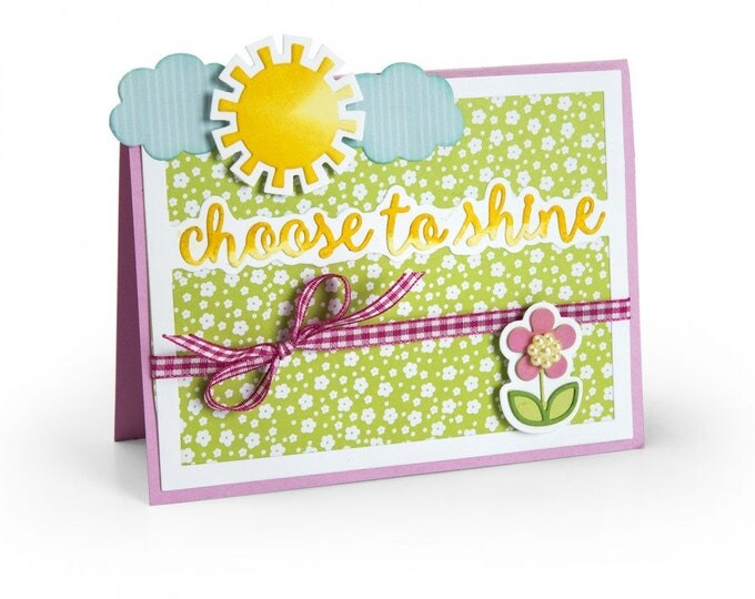 New! Sizzix Thinlits Die Set 6PK - Horizontal Drop-ins Sentiments by Stephanie Barnard 661837