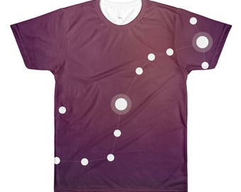 All-Over Printed T-Shirt - Zodiac Scorpio Constellation All-Over T-Shirt