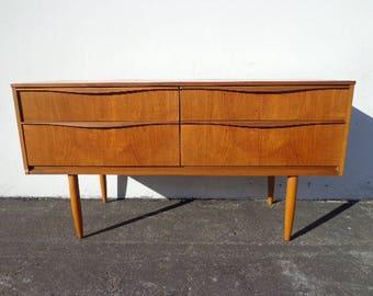 tv stand console mid century modern dresser danish sideboard media furniture cabinet buffet server bar storage