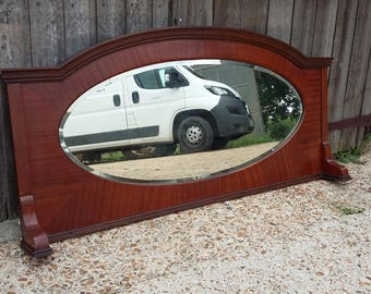 Vintage Mahogany Over Mantel Mantle Mirror COLLECTION ONLY