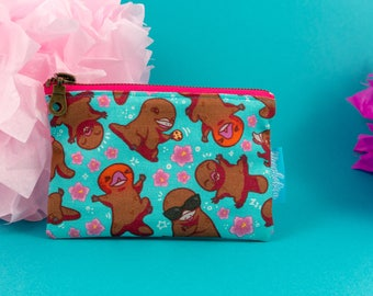 Platypus Make up Case, Platypus Mini Cosmetic Bag, Cute Make-up Pouch, Platypup