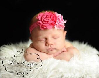 Pink Headband/Baby Headband/Baby Girl Hair Accessories/Infant Headband/Baby Girl Headband/Girl Headband Baby/OohLaLaDivasandDudes