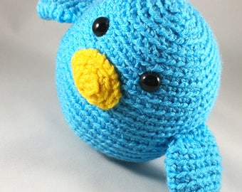 Cute blue stuffed bird ages 3+