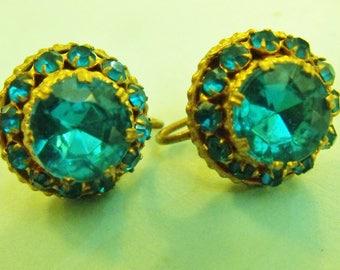 Czechoslovakian Earrings Screw Back