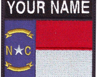 North Carolina Custom Badge Flag Embroidered Patch