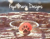 RESERVED FOR ALANNA Paw Print Ring with Twisted Band