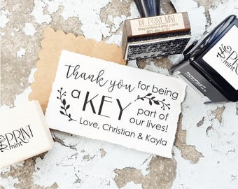 Key Wedding Favors Tag Rubber Stamp, Love is the Key, Rustic Wedding Favors, Vintage Keys Stamp, Key Bottle Opener Tag, Wedding Stamps 10314
