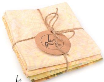 Golden Batiks Fat Quarter Bundle Island Batiks Quilt Fabric