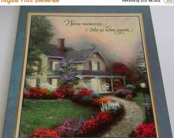 "On Sale NEW  Hallmark Thomas KINKADE Photo Album or Memory Book, Post Scrapbook Album, 12.5"" x 11, w/Scrapbook Pages, Original Box"