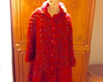 REDUCED Mod 60s Bohemian Chic Vintage The Clothes Horse Portland Boucle Wool Swing Vogue Avant Garde Coat