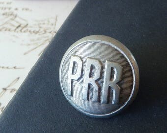 Pennsylvania Rail Road Uniform Button White Metal  1920s