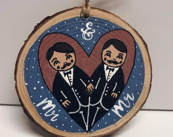 Mr and Mr plaques, Groom and Groom, wedding wall hanging