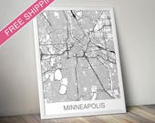 Minneapolis Map Print