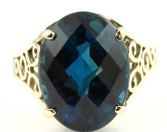 On Sale, 30% Off, London Blue Topaz, 14KY Gold Ring,  R049