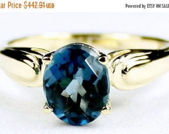 On Sale, 30% Off, London Blue Topaz, 14Ky Gold Ring, R058