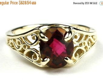 On Sale, 30% Off, Crimson Fire Topaz, 18KY Gold Ring, R005