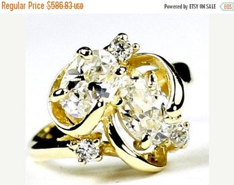 On Sale, 30% Off, Cubic Zirconia, 18Ky Gold Ring, R016
