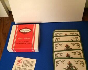 Vintage Pimpernel England Christmas Tree Coasters