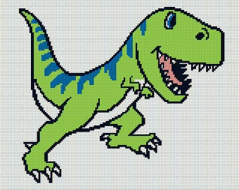 Dinosaur Afghan Etsy