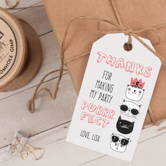 Cool Cats Favor Tag, Cool Cats Thank You Tag, Cool Cats Party Favor, Cool Cats Party Printable INSTANT DOWNLOAD editable at home