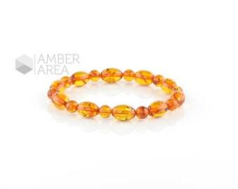 Baltic amber bracelet, Adults Amber Bracelet