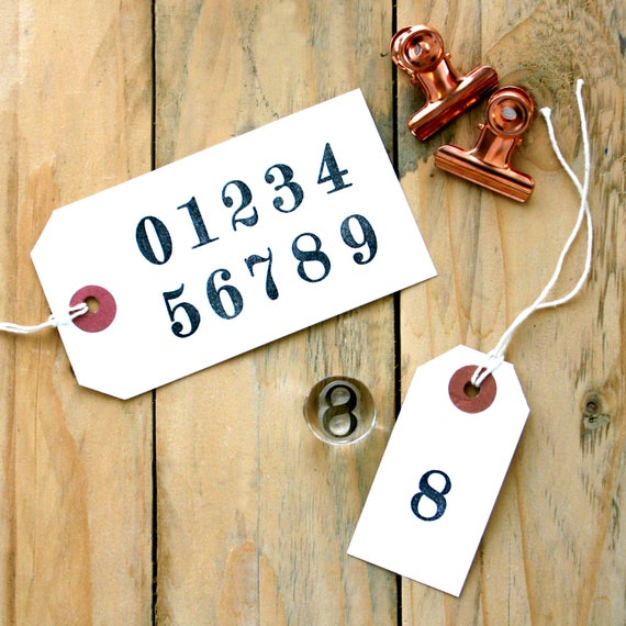 Number Set - Clear Rubber Stamps - Number Stamps - 0-10 Stamps - Birthday Stamp - Advent Stamps - LITTLE STAMP STORE
