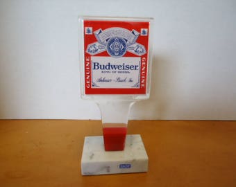 Budweiser Lucite Beer Tap Handle