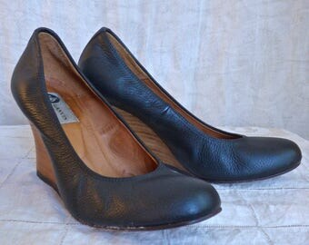 Lanvin Leather Wedges Size 37.5