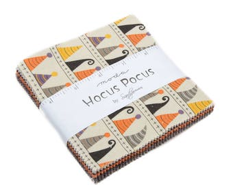 "Hocus Pocus Charm Pack by Sandy Gervais for Moda includes 42 - 5"" squares"