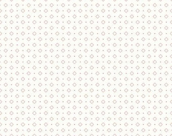 Bee Backgrounds - Diamonds Coral by Lori Holt of Bee in My Bonnet for Riley Blake, 1/2 yard, C6386-Coral