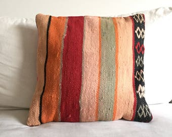 Moroccan Kilim pillow colors kilim cushion 45x45cm