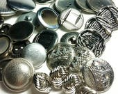 Vintage Buttons, Craft Buttons, Sewing Buttons, Metal Buttons, Sewing Accessories, Old Buttons, Button Lot, Supplies Buttons,