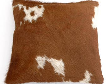 Natural Cowhide Luxurious Hair On Cushion/ Pillow Cover (15''x 15'') A74